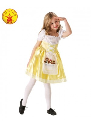 Girls Goldilocks Costume Child Book Week Day Fancy Dress Kids Three Bears Outfit