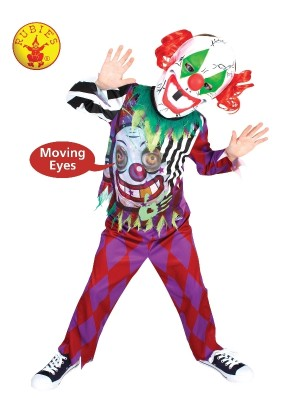 Children Scary Clown Lenticular Circus Costume cl300389