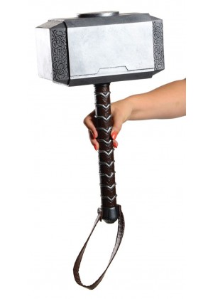 The Avengers Costumes - Licensed Thor Hammer Avengers Armour Weapon Costume Toy Superhero Cosplay Accessories Marvel Thor The Dark World Lightning Strike Hammer