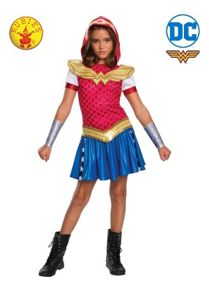 KIDS WONDER WOMAN DCSHG HOODIE COSTUME cl641071