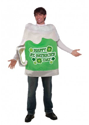 ST. PATRICKS DAY BEER MUG COSTUME cl67978
