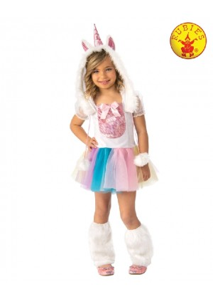 2b699452cce2 Rainbow Unicorn Girls Fancy Dress Fairy Tale Book Day Animal Kids Childs  Costume ...
