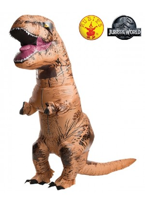 ADULT T-REX INFLATABLE Costume Jurassic World Park Blowup Dinosaur TRex T Rex