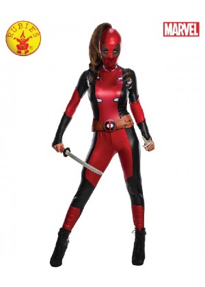 Secret Wishes Deadpool Ladies Costume Super Hero Movie Adults Womens Fancy Dress