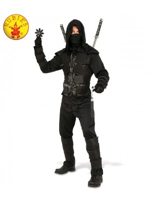 DARK NINJA KARATE ADULT MENS WARRIOR DRESS UP ASIAN ORIENTAL COSTUME