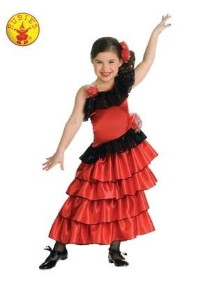 Girls Spanish Princess Flamenco Costume cl883053