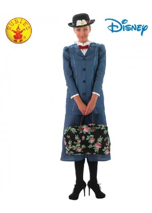 Mary Poppins English Nanny Maid Victorian Costume Womens Book Week Jacket Skirt Hat Bag