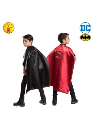 Batman to Superman Reversible Cape Child Boys Superhero Hero Kids Costume