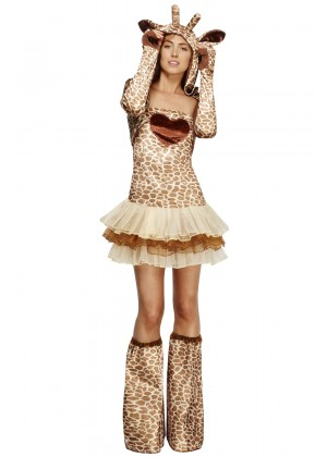 Fever Sexy Giraffe Safari Animal Jungle Zoo Bodysuit Catsuit Womens Ladies Fancy Dress Costume
