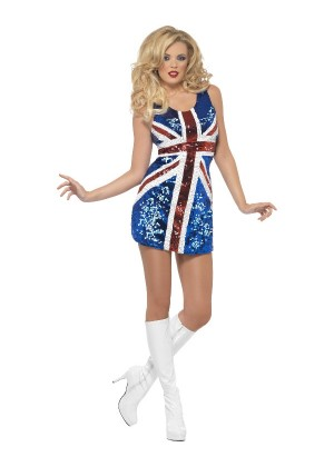 Womans Fever All that Glitters Rule Britannia Costume cs25001