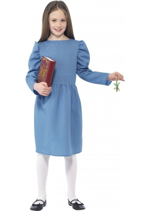 Roald Dahl Matilda Girls World Book Week Fancy Dress Up Child Kids Costume