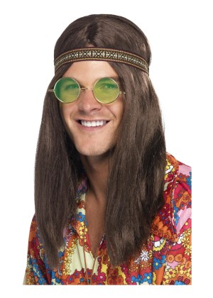 Mens Hippie Kit Headband Necklace Specs