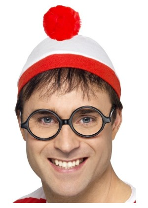 Adults Where's Wally Instant Kit Costume Mens Ladies Wenda Waldo Book Week Fancy Dress Outfit Accessory