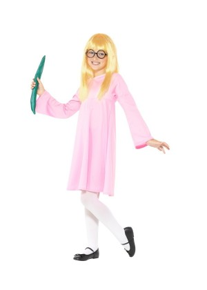 Kids Roald Dahl Deluxe Sophie BFG Girls Dress Up Book Week Costume Wig Glasses