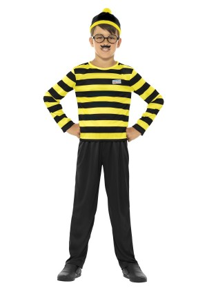 Where's Wally Boy's Costume Odlaw  CHILD Fancy Dress