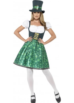 Ladies Leprechaun Lass Costume 45511_1
