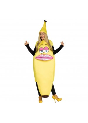 Female Licensed Womens Ms. Banana Costume Fancy Dress Cartoon Outfit