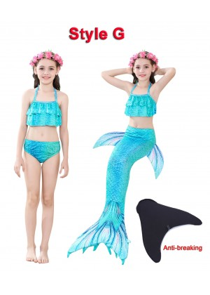 Kids Mermaid Swimmable Swimsuit Costume tt2030+tt2008-2