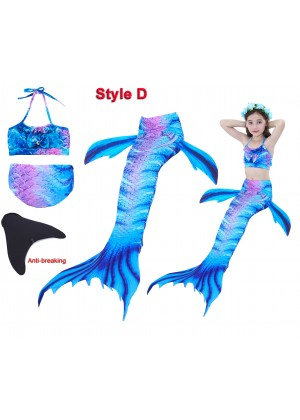 Kids Mermaid Swimsuit Costume with Monofin tt2027+tt2008-15