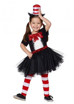 Kids Cat In The Hat Costume set pp1023