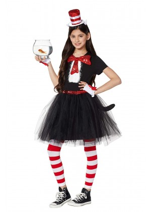 Ladies Dr Seuss Cat In The Hat Costume set pp1022