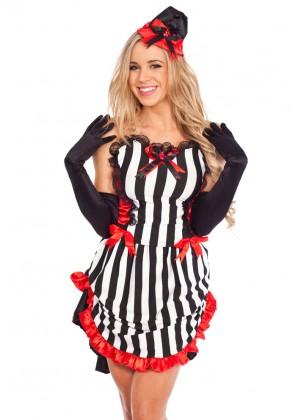 Devil Costumes - Ladies Devil Queen Burlesque Moulin Rouge Devil Halloween Fancy Dress