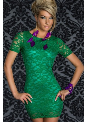 Green lace Club Wear