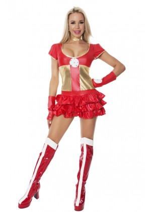 Ladies Hot Hero Fancy Dress Costume