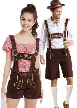 Couple Beer Maid Lederhosen Bavarian Costume