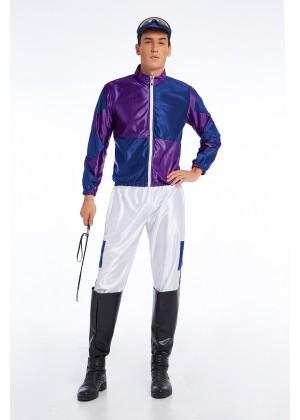 Purple Jockey Costume Mens Full Set