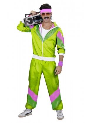 Mens 80s Tracksuit Suit Costume