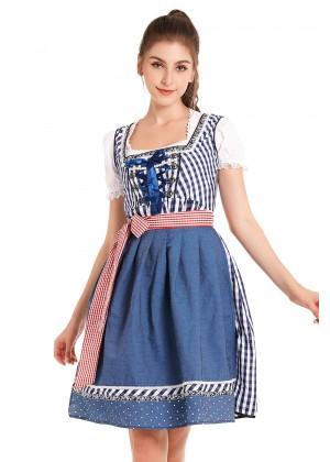 Ladies Oktoberfest German Bavarian Beer Maid Vintage Costume
