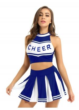 blue Cheerleader Girl Uniform Costume lh350blue