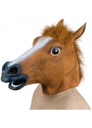 horse Head Latex Mask Animal lm103