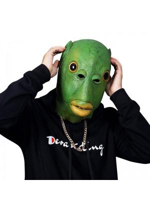 Green Fish Head Mask Costume Accessory lm114