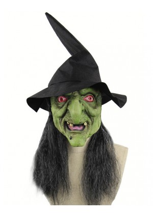 Halloween Horror Old Witch Mask with Hat