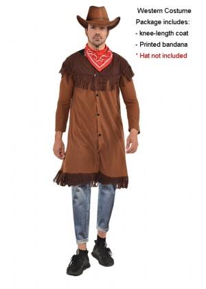 Mens Wild Western Cowboy Costume nohat lp1016