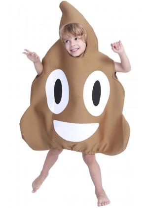 Kids Poo Emoji Fun Costume  lp1033