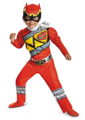 Boys Kyoryu Red Animation Costume lp1048