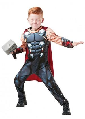 Boys Deluxe Thor Costume Marvel Avengers Superhero Child Fancy Dress