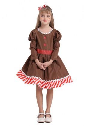 Ginger Bread Christmas Girl Costume