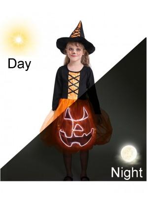 Pumpkin Christmas Girl Costume