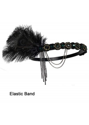 1920s Headband Feather Flapper Headpiece