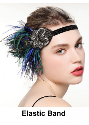 Ladies 20s Great Gatsby Headpiece Costume Accessories lx0261