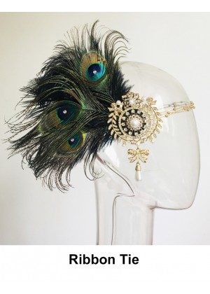 Bridal 1920s Feather Feather Headpiece lx0267