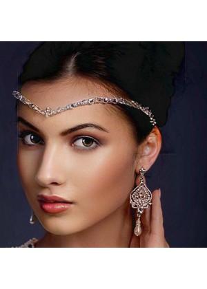 Ladies Vintage Wedding Rhinestone Head Chain lx0270