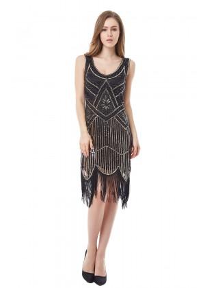 black 1920s day dress lx1008_1