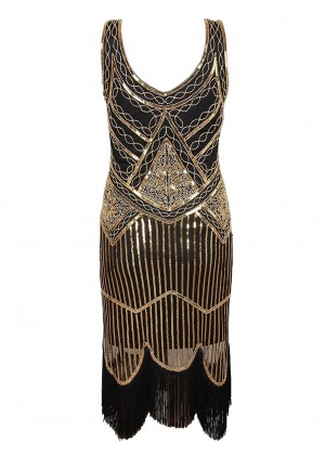 1920s Vintage Great Gatsby Charleston 20s Flapper Fancy Dress gatsby gangster ladies