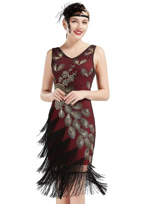 1920s Flapper Dress Costume lx1051r