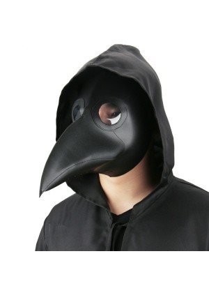 Black Steampunk Plague Doctor Mask
